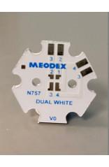 PCB STAR pour 1 LED Nichia 757 Dual white