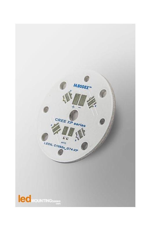 PCB MR11 pour 4 LED CREE XP-L compatible optique Ledil