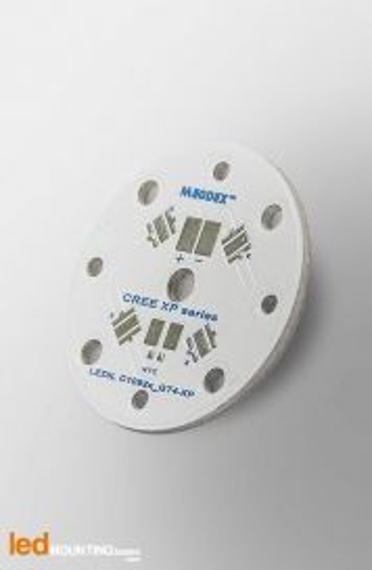 PCB MR11 pour 4 LED CREE XT-E Royal Blue compatible optique Ledil