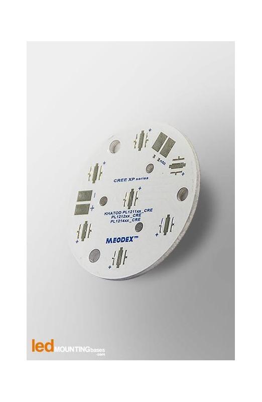 PCB MR11 pour 7 LED CREE XT-E High-Voltage White compatible optique Khatod
