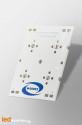 Strip PCB for 4 LED CREE XP-E High-Efficiency White / Ledil LED lens compatible
