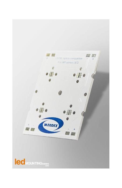 Strip PCB for 4 LED Seoul SemiSEOUL Z5M1 / Ledil LED lens compatible