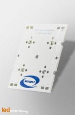 PCB Strip pour 4 LED CREE XHP35 compatible optique Ledil