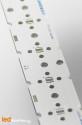 Strip MCPCB for 6 LED CREE XP-G / LEDIL LED Lens compatible