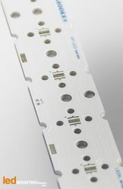 PCB Strip pour 6 LED CREE XP-E High-Efficiency White compatible optique Ledil