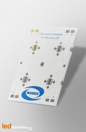STRIP MCPCB for 4 LEDs CREE XML Ledil LED Lens compatible