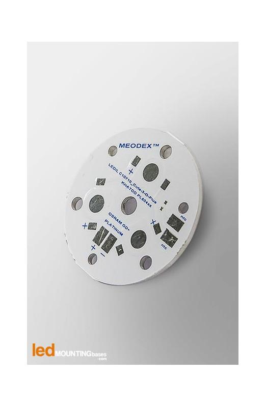 MCPCB Diametre 35mm pour 3 LEDs Osram Dragon Serie compatible optique Khatod