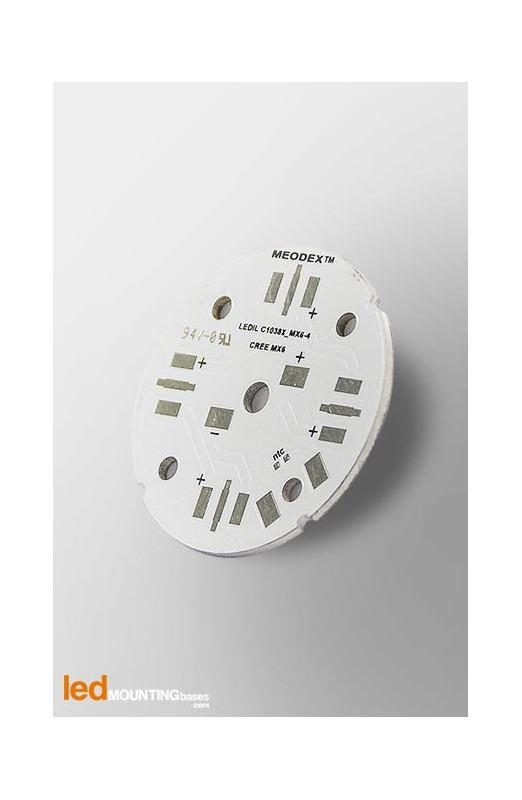 D40 MCPCB for 4 LEDs CREE MX-6 Ledil LED Lens compatible