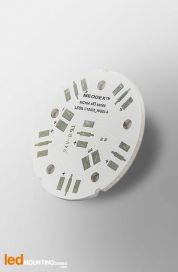 D40 MCPCB for 6 LEDs Nichia x83 Ledil LED Lens compatible